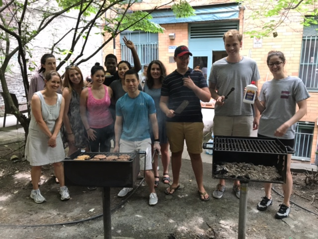 Residents of Ivan Shapiro and the Associate Board during this year's client BBQ.