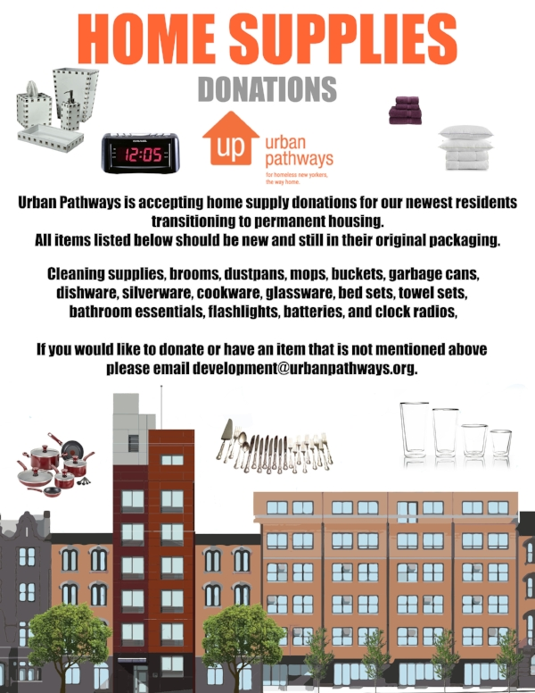 Donate to our current home goods campaign!
