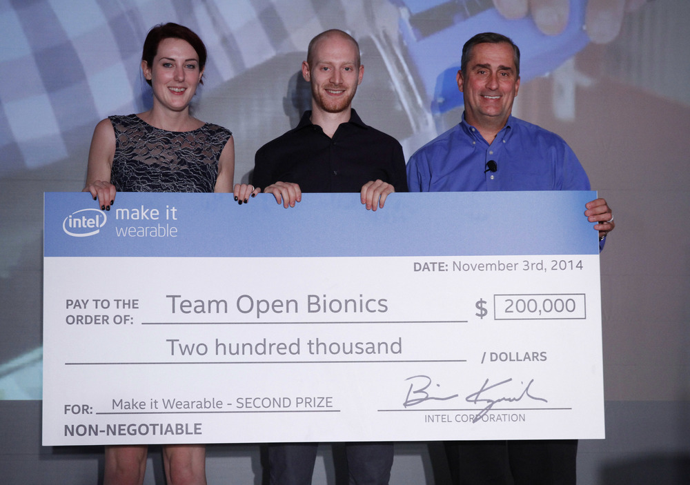 Intel Make it wearable winners open bionics