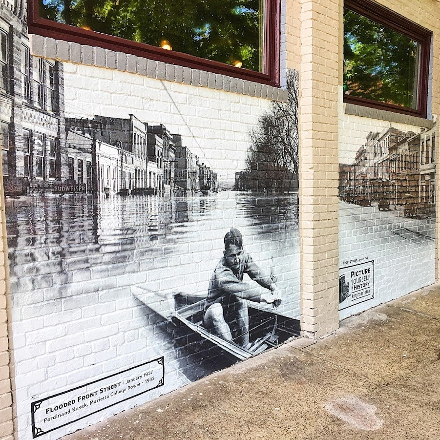 Mural of historic photos located at 200 Front Street | July 2017