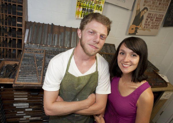 Bobby & Sara Rosenstock, owners of Just a Jar Design Press