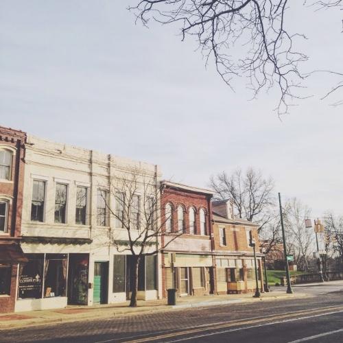 106 Putnam Street, before facade improvement grant funding.