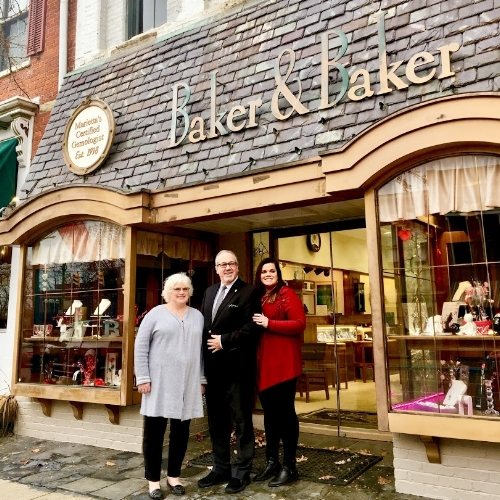 105 Putnam Street, home of Baker & Baker Jewelers, received Build Up Marietta funding for brick restoration, window repair, and paint.