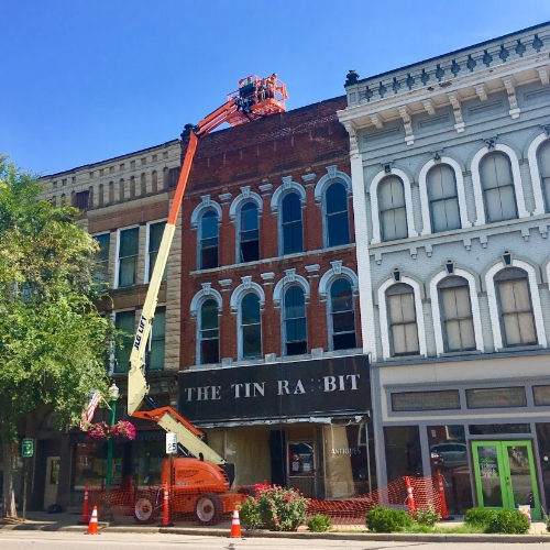 New owners of the old Tin Rabbit building utilized historic preservation strategies to update the building and give it new life.
