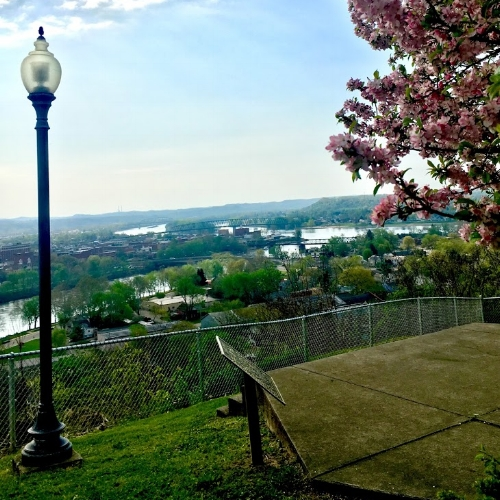 Overlooking Marietta and both the Ohio and Muskingum River, from Harmar.