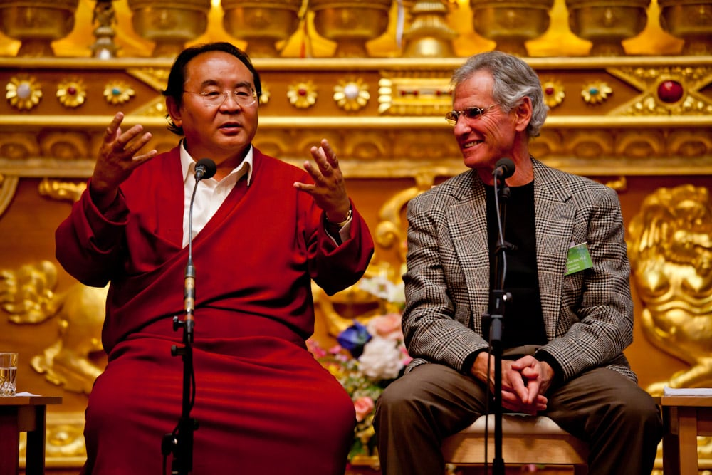 Sogyal Rinpoche and Jon Kabat-Zinn, Buddhism and Medicine international conference, Lerab Ling, 2010