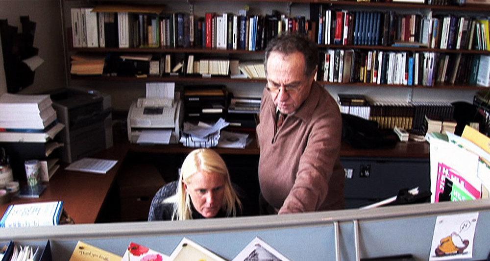Alan Dershowitz in his office at Harvard University