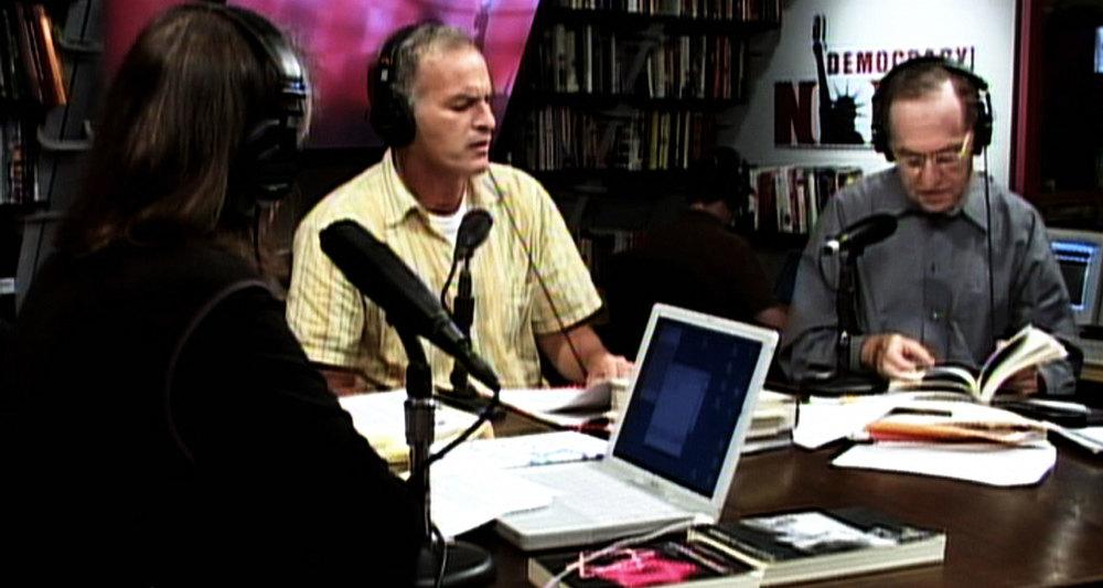 """Norman and Alan Dershowitz debate on """"Democracy Now!"""""""