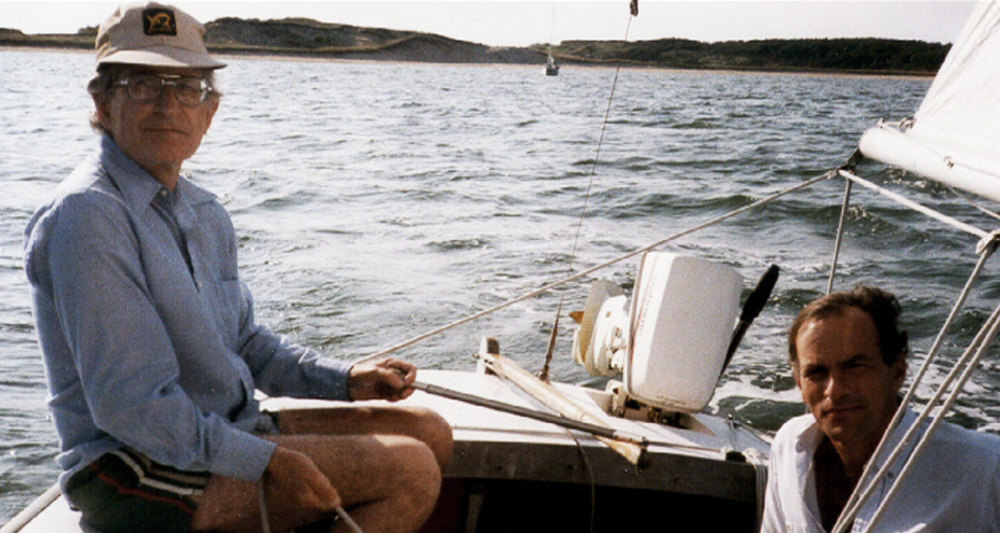 Norman sailing with Noam Chomsky