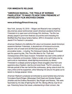 American Radical Press Release