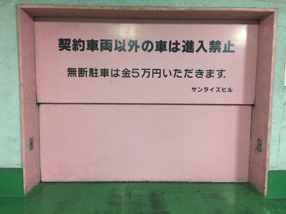 PINK garage door