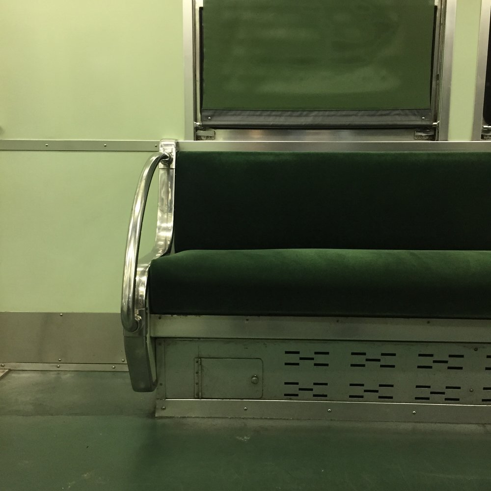 GREEN - beautiful subway car in Kyoto
