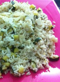 riso zucchine mandorle