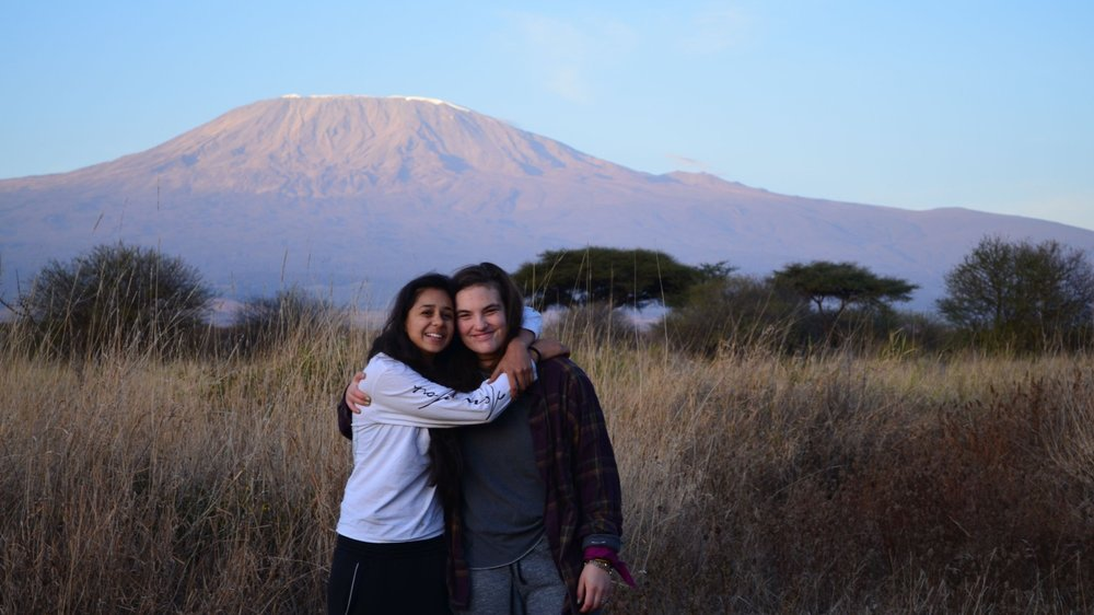 In front of Kilimanjaro
