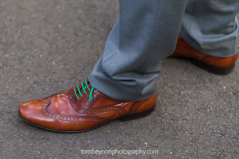 The groom's funky laces