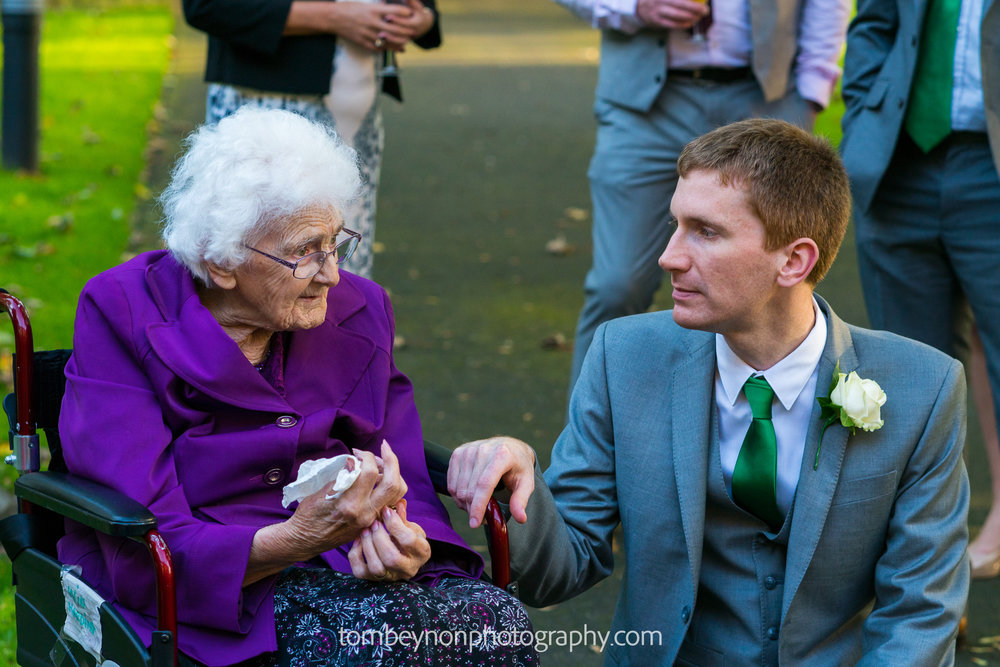 Groom with his nan