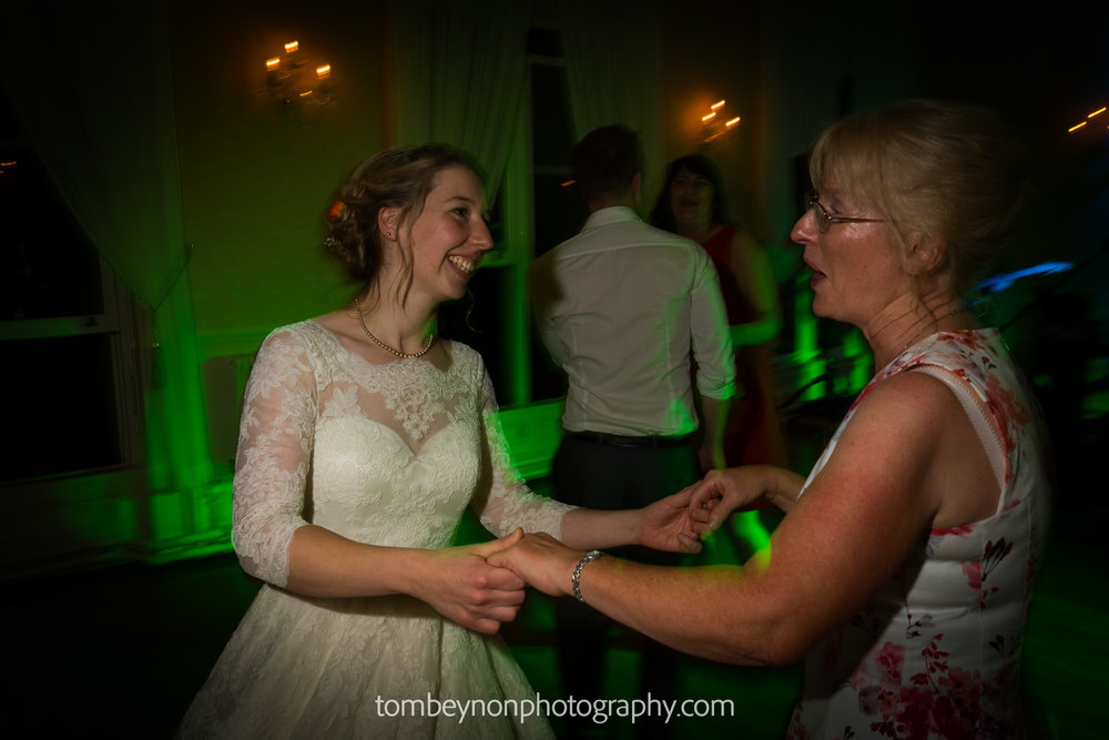 Bride dances with her mum