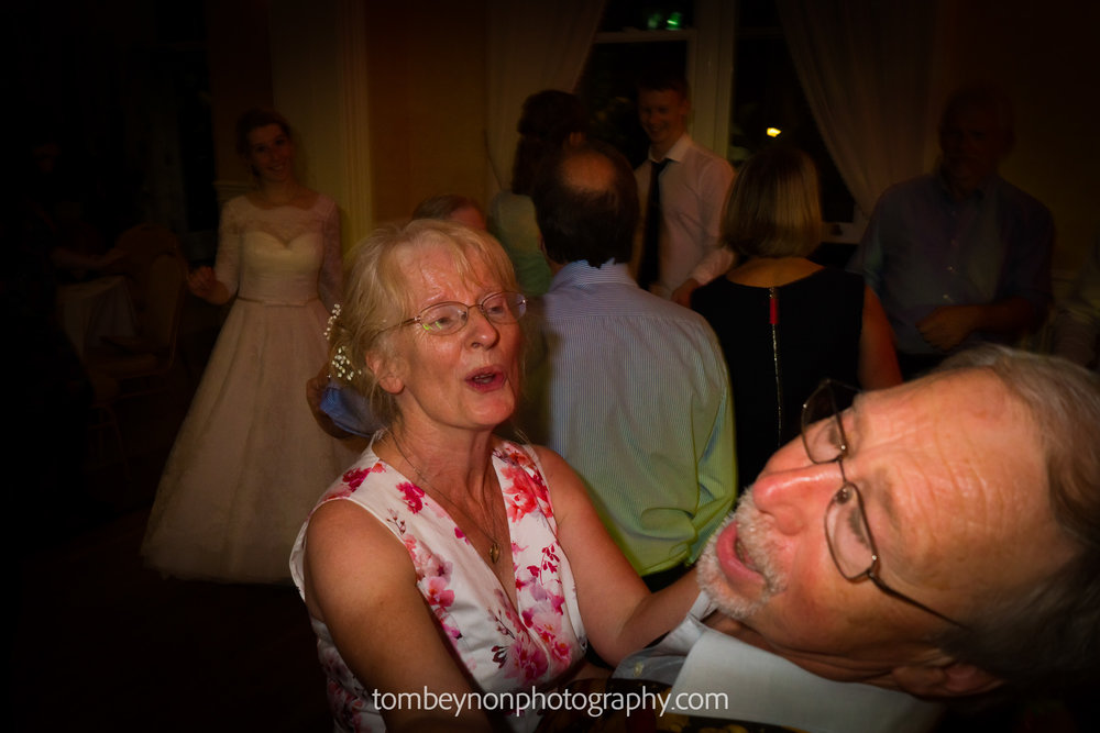 Bride's parents dancing