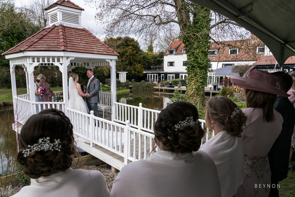 Guests watch the ceremony