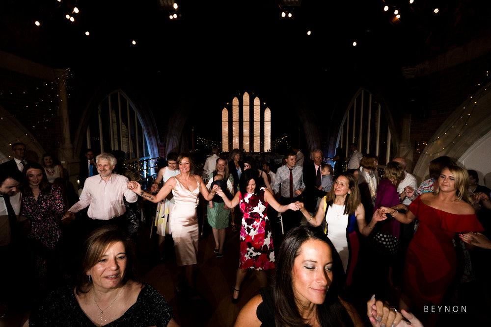 Everyone is up dancing