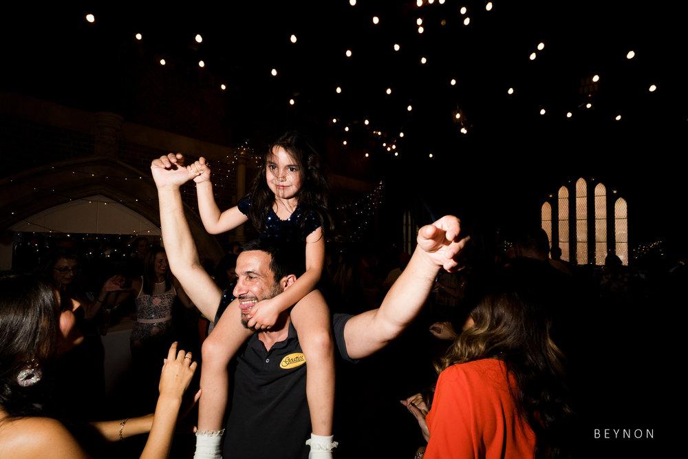 Small child on dancefloor