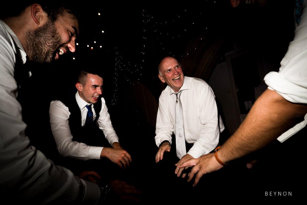 Last night wedding party action