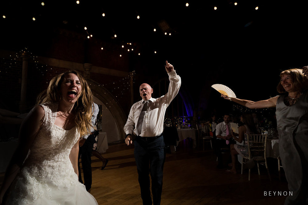 The father of the bride dancing