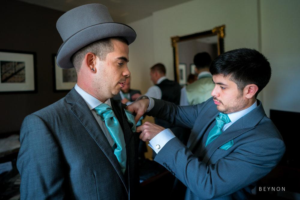 Groomsmen in their suits