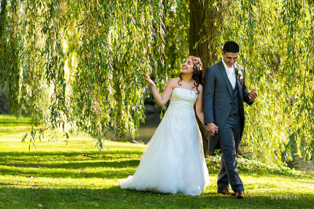 The new Mr & Mrs walk together
