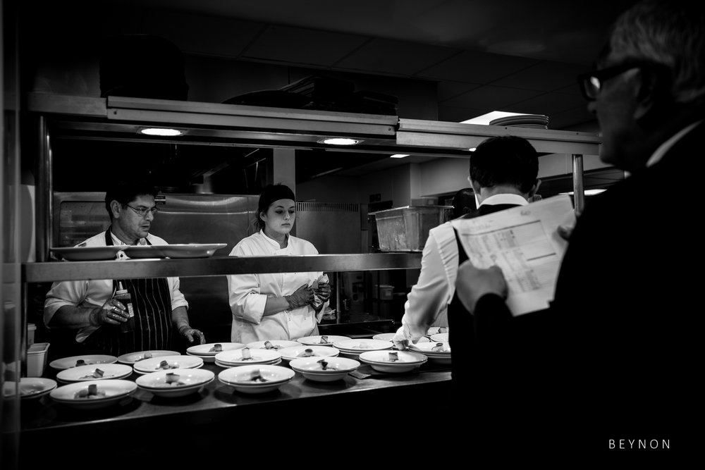 Behind the scene in the kitchens