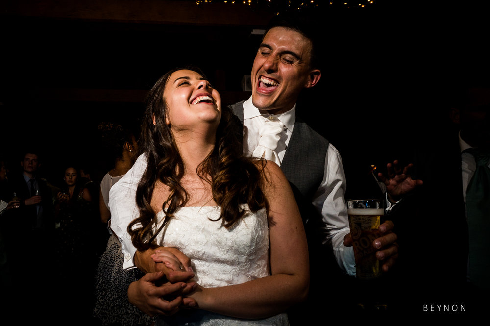 Just married smiles