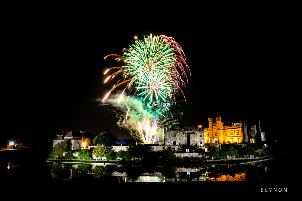 Fireworks over Leeds Castle