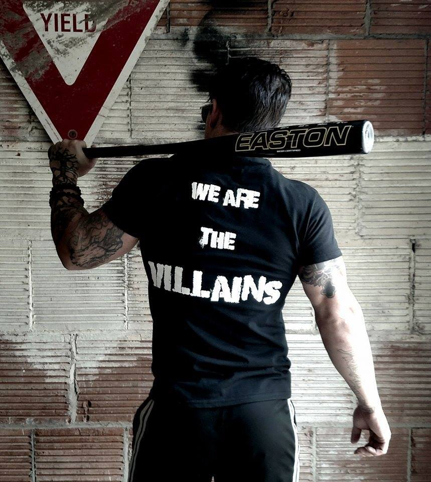 "The wild/STRONG man doesn't live by anyone's rules but his own. Featured in this photo, Operation Werewolf's ""We are the Villians""  shirt  www.operationwerewolf.com"