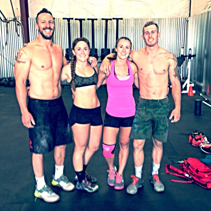 wild/STRONG Founder, left, after logging for 85 days. Girlfriend to his left after logging for 115 days.