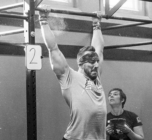 wild/STRONG Founder competing at the Wyoming Affiliate Cup, 2015. Working out with a judge watching is one of the reasons the Open is such a great experience - plus, you don't have to keep track of your reps. Just focus on your performance.