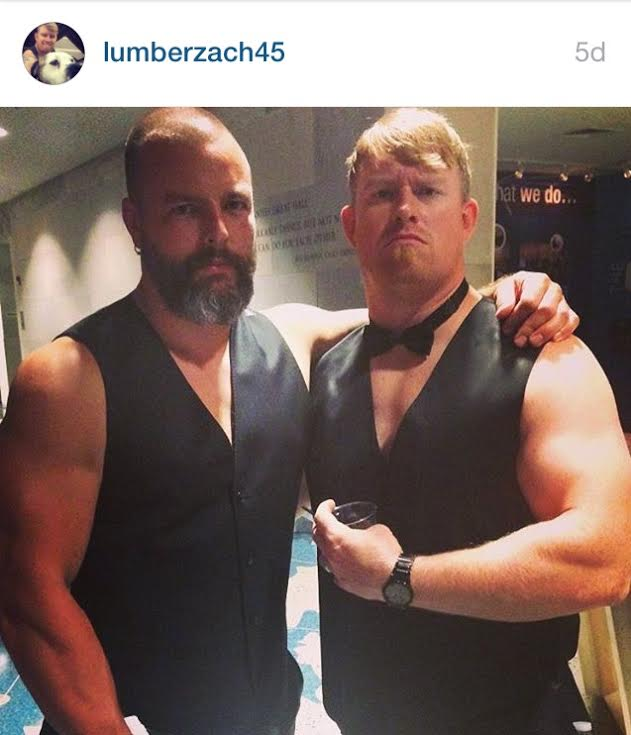 """""""Never apologize for being awesome. Stay the course"""". Former Helix coach Joshua Waggener (right) with former Helix co-owner Zach Hill - preparing to ruin a wedding reception or audition for the Chippendales. No way to know for sure."""