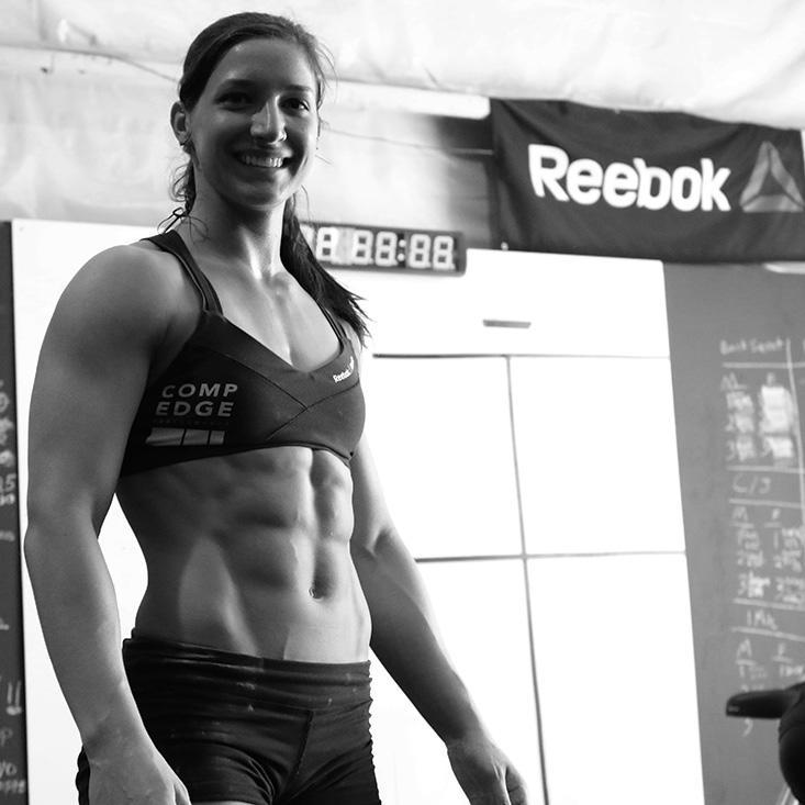 Jordan Adcock of CrossFit Sua Sponte. She holds the 5th spot in the Mid-Atlantic region with a score of 302 reps on 16.1