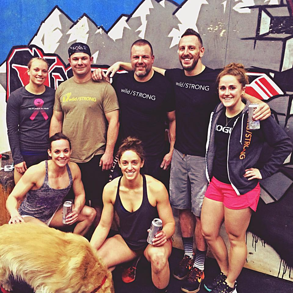 Our biggest crew to date (plus a dog) showed up for the wild/STRONG Open Tour Week 3 at CrossFit Battle Ready in Greeley, CO.