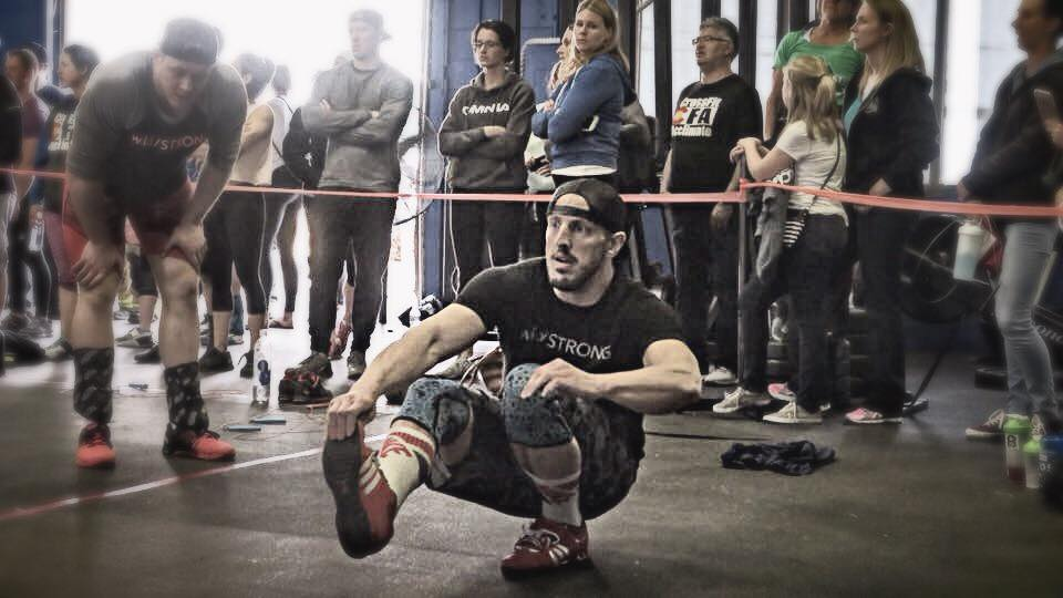 During final event at Battle of the Boxes at CrossFit MOB in Denver, CO.