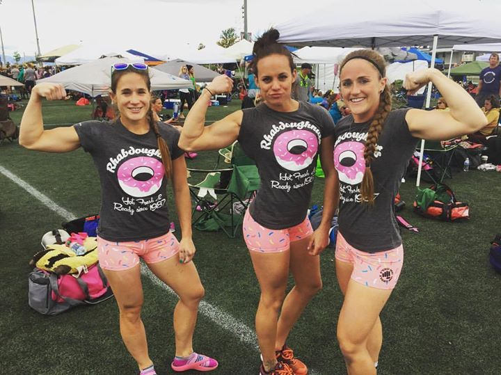 An 11th place finish at Girls Gone RX came at a price. Melissa Burrows (left) aggravated a shoulder injury and was forced to drop off the Throwdown roster. C.J. Engels (middle) declined an invite to replace her because of her upcoming figure competition, leaving Josie Pettipiece (right) searching for a second female to fill the roster spot.