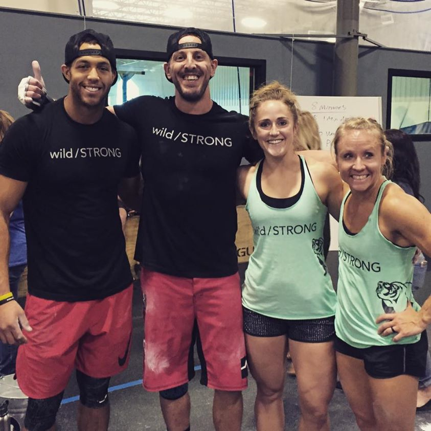 Team wild/STRONG following two days of grueling workouts. From left: Malachi Bennett, Seth Waggener, Josie Pettipiece and Heather Gammel.
