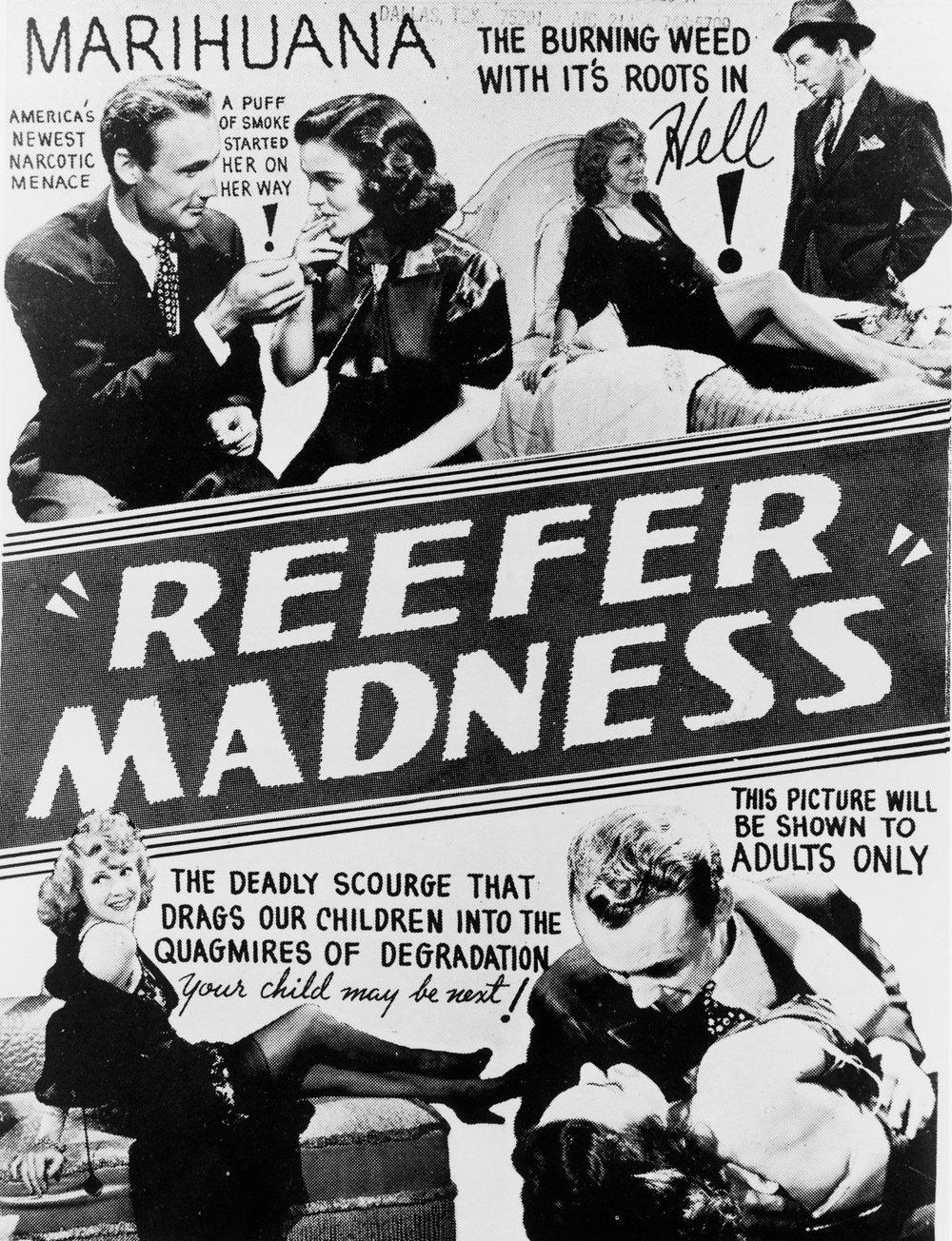 Myths about marijuana spread in propaganda films like Reefer Madness, continue to plague the CBD debate, some 50 years after these films were made.