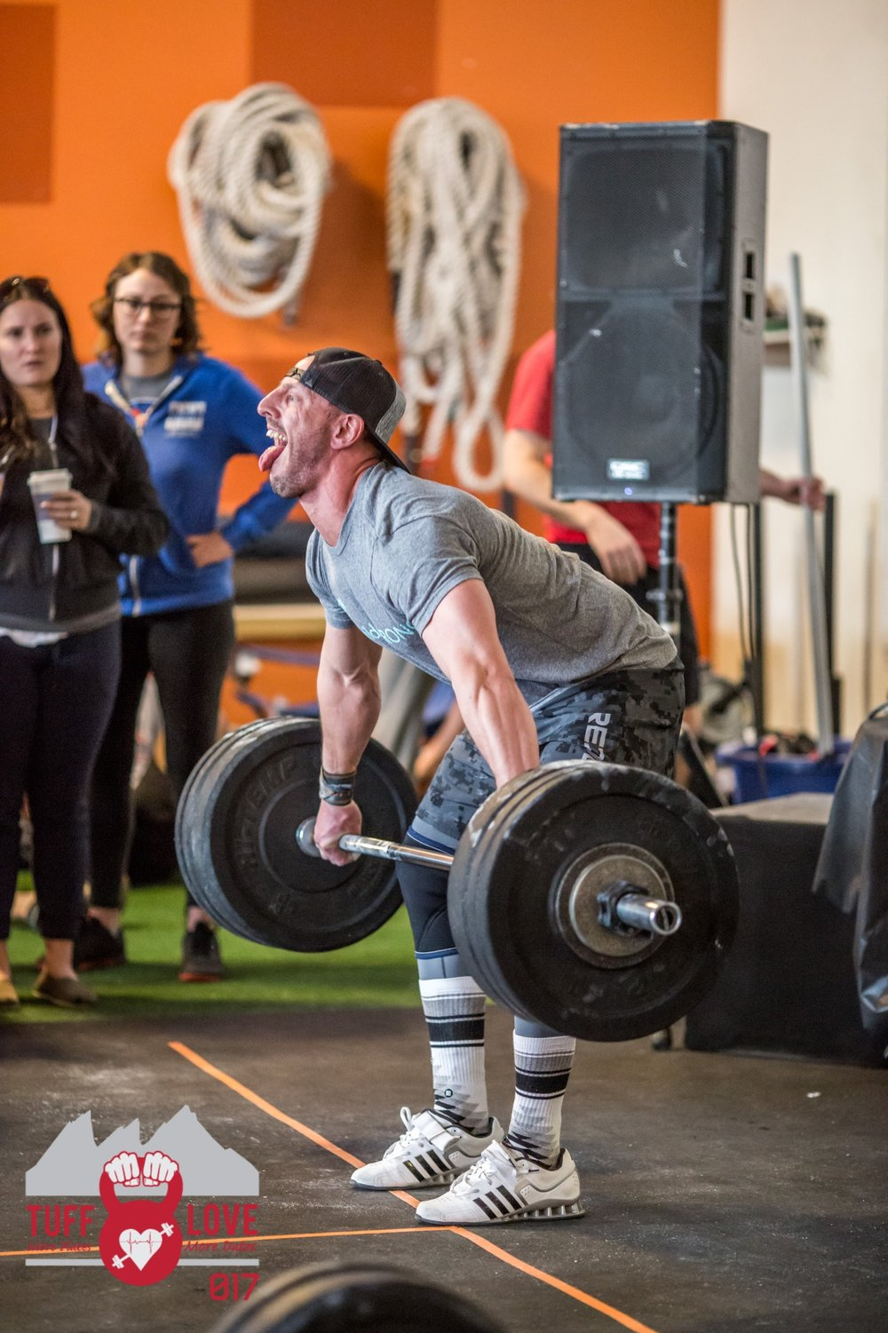 Seth Waggener during the 1rm Snatch event at 2017 Tuff Love at CrossFit Sanitas. Photo: Scott Brayshaw.