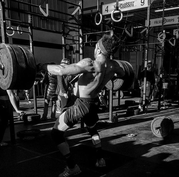 Malachi Bennett during the 1rm snatch event at the 2017 Turkey Challenge at MBS CrossFit