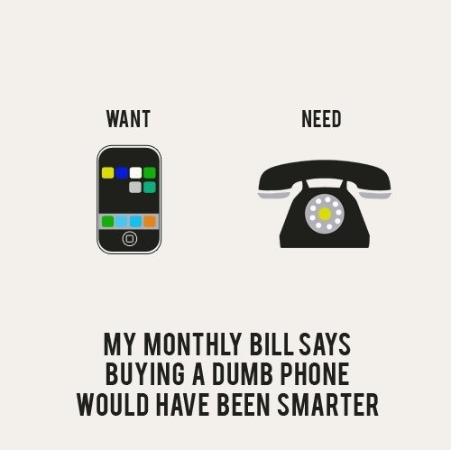 Funny Illustration of want vs need