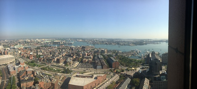 Not a bad view of Boston's Seaport from 60 State Street!