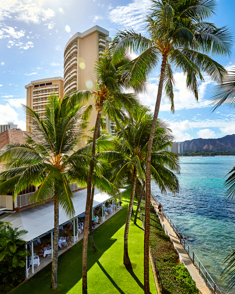 VIEW FROM ROYAL SUITE BALCONY AT HALEKULANI