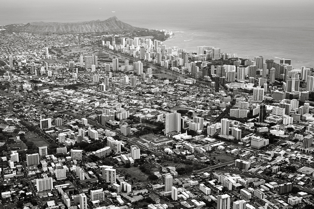 HELICOPTER VIEW OF HONOLULU