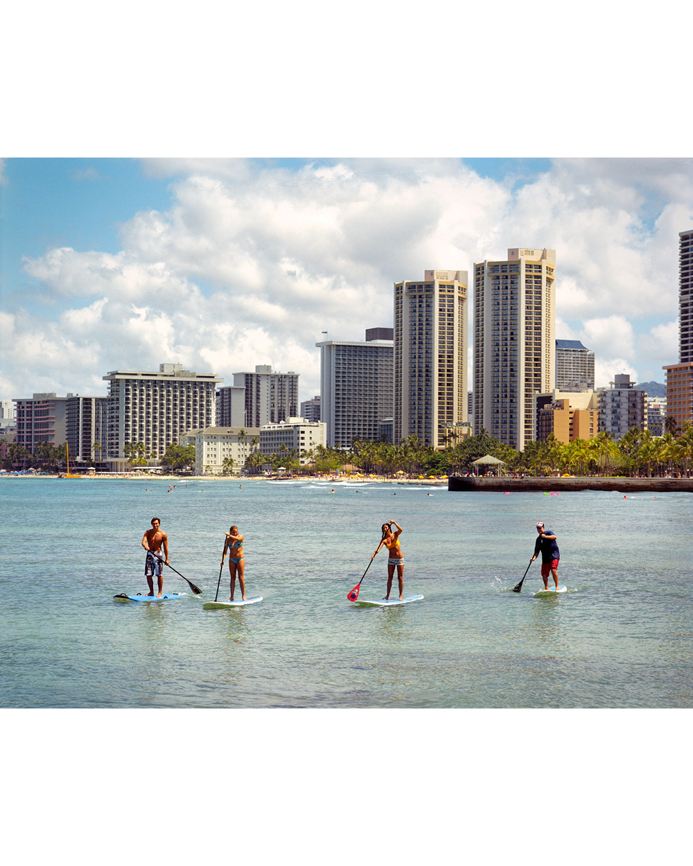 HANS HEDEMANN HIMSELF WITH HIS SURF INSTRUCTING TEAM