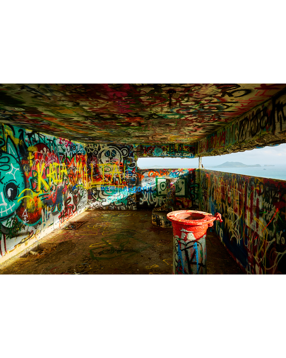 INTERIOR OF PILLBOX ONE